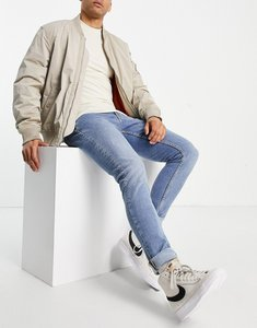Read more about Nudie jeans skinny lin skinny fit jeans in blue horizon
