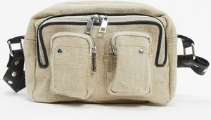 Read more about Nunoo ellie canvas and leather mix bag in sand-beige