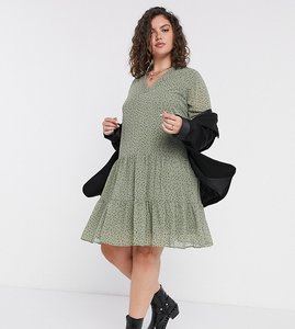 Read more about Only curve smock dress in mint spot print-green