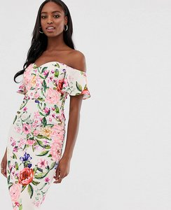 Read more about Paper dolls tall midi pencil dress in floral print-multi