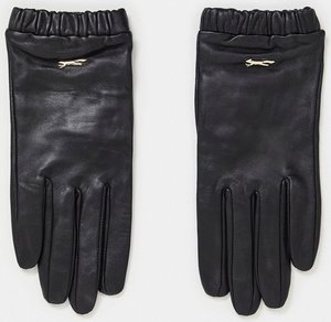 Read more about Paul costelloe leather gloves with frill detail in black