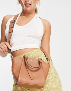 Read more about Paul costelloe leather structured tote bag in tan-brown
