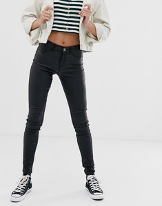Read more about Pieces coated skinny jeans-black