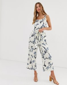 Read more about Pieces floral wide leg jumpsuit with tie waist-multi