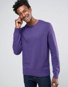 Read more about Polo ralph lauren cotton crew neck jumper in purple