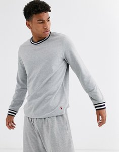 Read more about Polo ralph lauren lounge sweatshirt in grey with contrasting trims