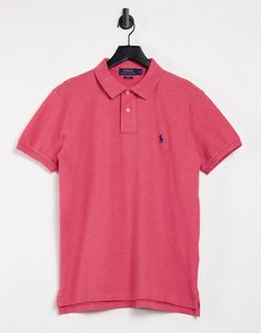 Read more about Polo ralph lauren slim fit player logo pique polo in red marl