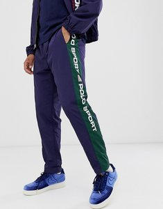 Read more about Polo ralph lauren sport capsule taped logo shell joggers in navy