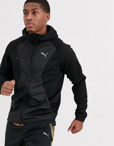 Read more about Puma running zip-up hooded jacket-black