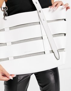 Read more about Rebecca minkoff structured tote bag in white