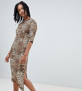 Read more about Reclaimed vintage inspired open back midi dress in leopard print-brown