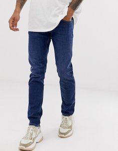 Read more about Replay anbass stretch slim fit jeans in dark wash-blue