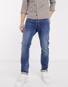 Read more about Replay donny slim tapered fit jeans in mid wash-blue