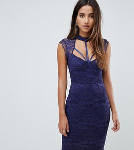 Read more about Scarlet rocks harness lace midi dress in navy