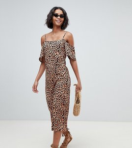 Read more about South beach exclusive beach jumpsuit in leopard print-multi