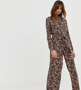 Read more about Stradivarius floral ditsy print jumpsuit with belt detail-multi
