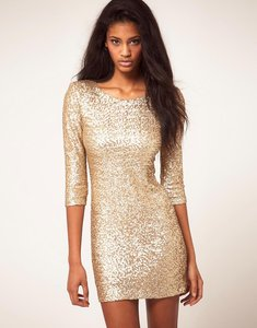 Read more about Tfnc sequin dress with long sleeves-gold