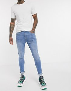 Read more about Tommy jeans asos exclusive super skinny fit jeans in light wash-blue