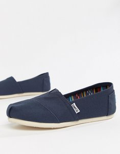 Read more about Toms classic navy canvas shoes-blue