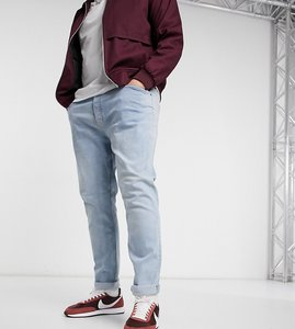 Read more about Topman big tall stretch skinny jeans in bleach-blue