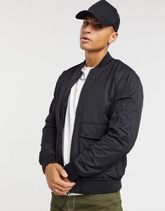 Read more about Topman bomber jacket in black