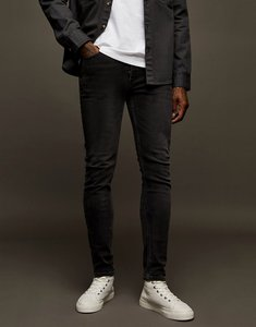 Read more about Topman stretch skinny jeans in washed black-grey