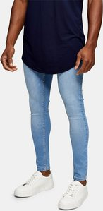 Read more about Topman super spray on jeans in light wash blue