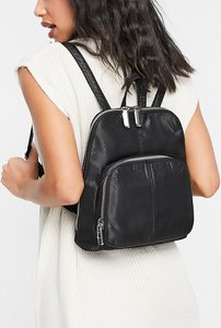 Read more about Topshop backpack moire backpack in black