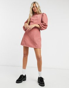Read more about Topshop cord baby doll mini dress in pink