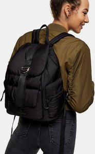 Read more about Topshop nylon backpack in black