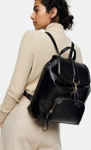 Read more about Topshop pu backpack in black