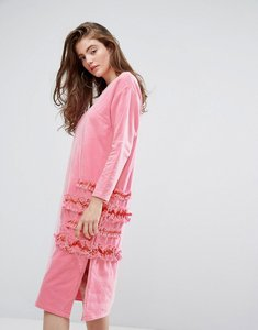 Read more about Typical freaks frilly oversized dress with mesh-pink