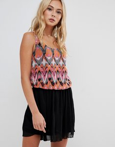 Read more about Urban bliss button down dress in print-multi