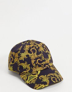 Read more about Versace jeans couture baroque print cap in black