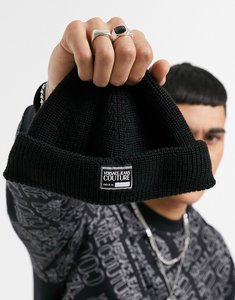 Read more about Versace jeans couture beanie with logo in black