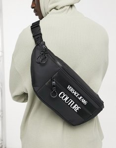 Read more about Versace jeans couture bumbag with logo in black