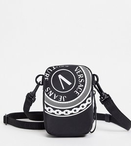 Read more about Versace jeans couture logo flight bag in black