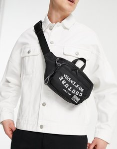 Read more about Versace jeans couture simple logo bum bag in black