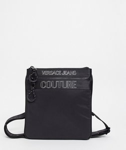 Read more about Versace jeans couture simple logo side bag in black