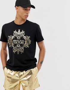 Read more about Versace jeans couture t-shirt with baroque logo-black