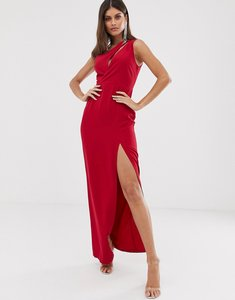 Read more about Vesper one shoulder maxi dress in red