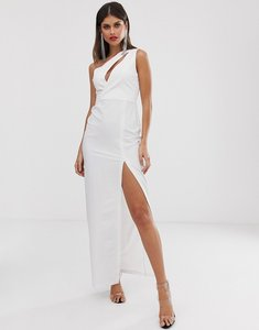 Read more about Vesper one shoulder maxi dress in white