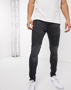 Read more about Voi jeans super skinny biker jeans in washed black