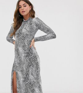 Read more about Wednesday s girl midi dress in animal print-black