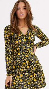 Read more about Wednesday s girl mini tea dress in bold floral print-navy