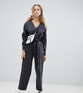 Read more about Weekday pocket detail utility jumpsuit in grey