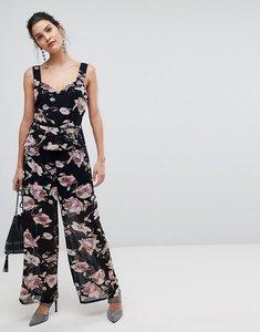 Read more about Y a s floral cami wide leg jumpsuit-multi