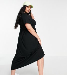 Read more about Yours t-shirt maxi dress in black
