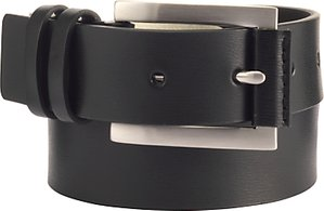 Read more about John lewis double keeper belt black