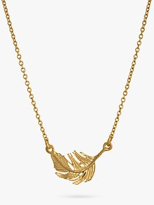 Read more about Alex monroe little feather necklace gold